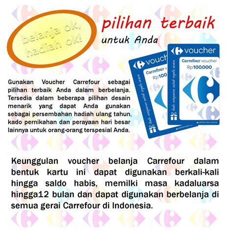 Voucher Carrefour 100 000 voucher carrefour rp 100 000 card voucher elevenia