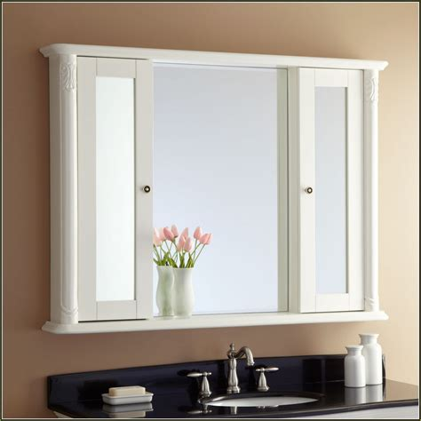 white mirror with lights white medicine cabinet with mirror and lights home