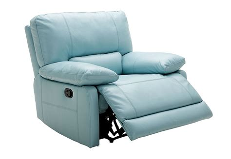 light blue leather recliner kuka sand power recliner leather match
