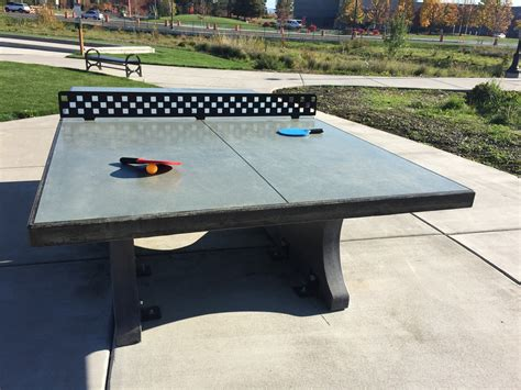 how is a ping pong table concrete ping pong tables