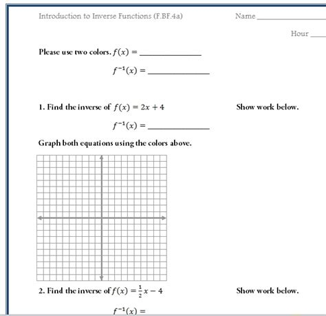 Common Algebra 1 Worksheets by Worksheet Algebra 1 Functions Worksheets Caytailoc Free