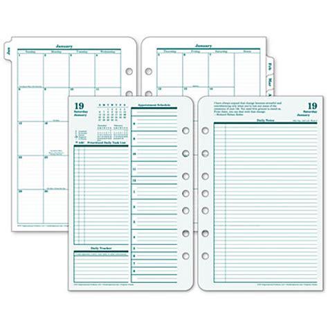 printable planner refills 2016 franklincovey original design planner refill 5 12 x 8 12