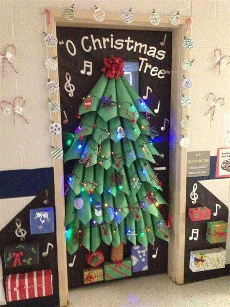 diy christmas tree classroom door decorations decoraci 243 n puertas de navidad 2 manualidades para ni 241 os