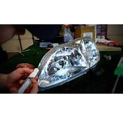 How To Repair A Headlight With Moisture/water In It  YouTube