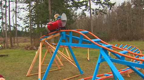 kids backyard roller coaster how cool is this navy pilot builds roller coaster in