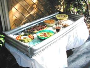 How To Keep Food Cold On A Buffet Table An Inflatable Tabletop Cooler To Keep Your Cold Food Cold