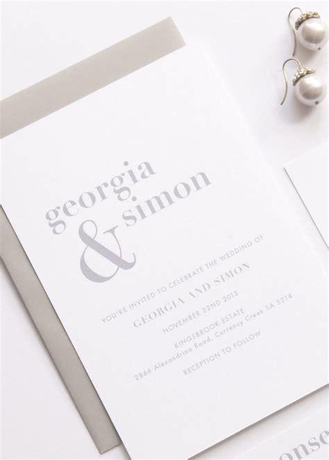 Wedding Invitations Simple by Wedding Suite Deposit Wedding Invitation