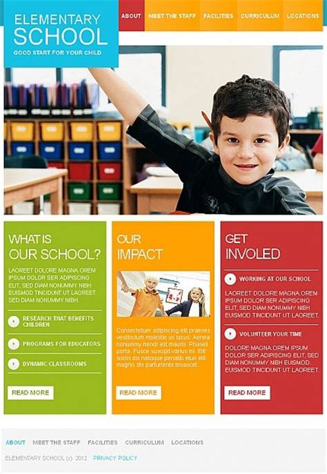 school brochure templates 39 best images about web design on