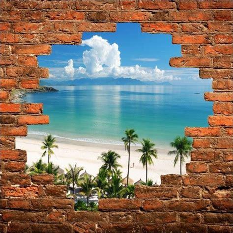 Trompe L Oeil Mural 2363 by Les 25 Meilleures Id 233 Es Concernant Plage Mural Sur