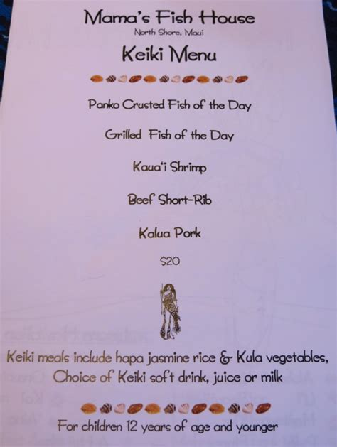 fish house menu mamas fish house menu 28 images menu picture of s fish house paia tripadvisor