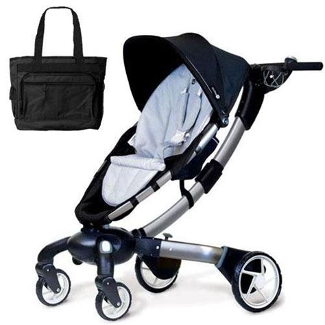 Origami Power Folding Stroller Silver - 4moms 4m00601 origami power folding stroller with