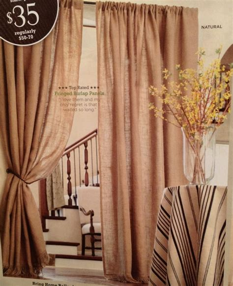 ballard designs curtains ballard designs burlap curtains swagged in front of open