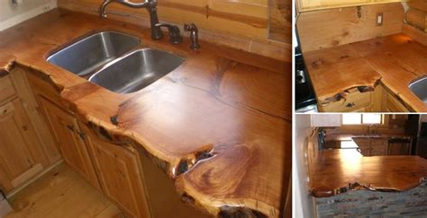 rustic countertop for cabins home design garden