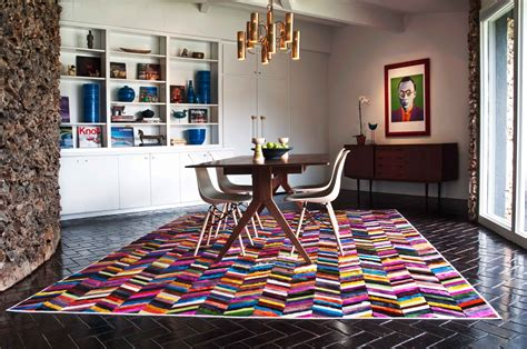 Modern Dining Room Rugs by 30 Rugs That Showcase Their Power The Dining Table