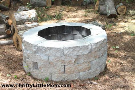 easy diy inexpensive firepit for backyard 187 thrifty