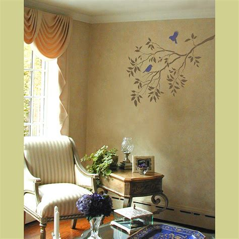 painting stencils for wall art wall art reusable wall stencils tree branches and birds