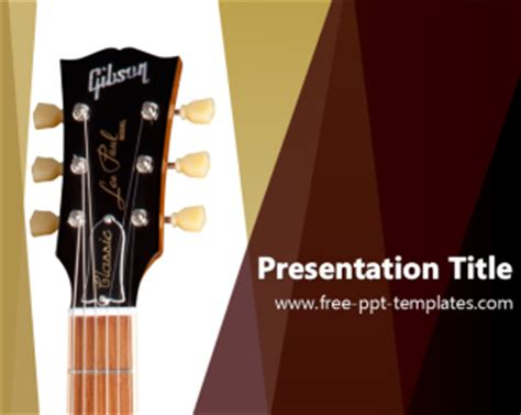 Guitar Ppt Template Free Powerpoint Templates Guitar Powerpoint Template