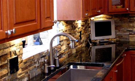 Stone Veneer Kitchen Backsplash by Natural Stone Kitchen Stacked Stone Veneer Kitchen