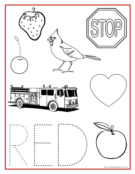 printable color games for kindergarten red color activity sheet teaching preschool pinterest