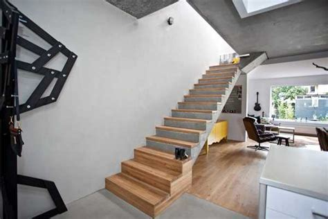 Interior Concrete Stairs Design Wood Turns Concrete Architectural Spaces Into Cozy Modern Home Interiors