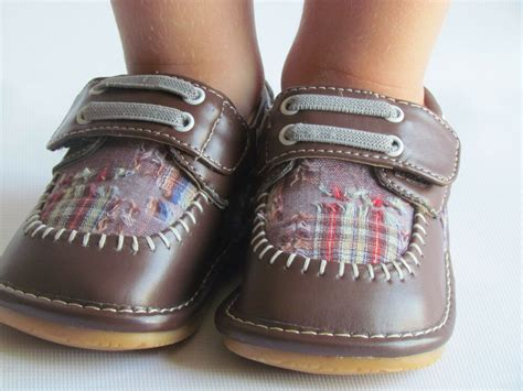 toddler shoes squeaky shoes boys brown w plaid dress shoes up to size 7 ebay