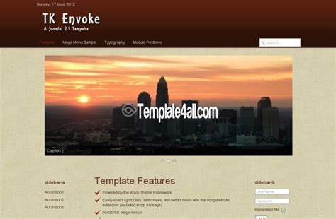 free jquery brown business joomla theme template