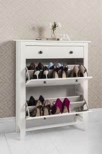 White Shoe Storage Cabinet Shoe Storage Cabinet Deluxe With Storage Drawer Cotswold In White Ebay
