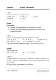 Arbeitsblatt Gleichungen Klasse 8