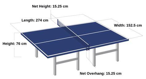 Harga Ukuran Meja Pingpong by Ukuran Lapangan Tenis Meja Standar Nasional Dan Internasional