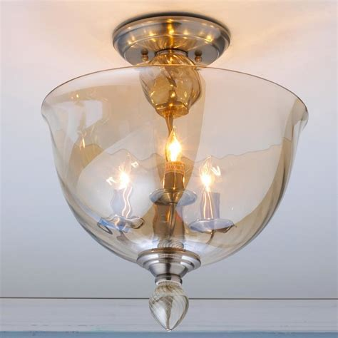 Modern Murano Glass Bowl Semi Flush Ceiling Light Flush Murano Ceiling Light