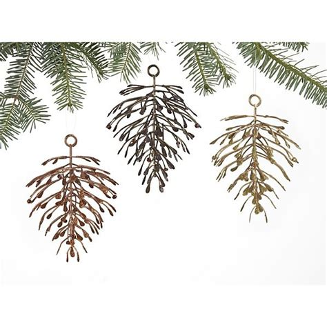 christmas ornaments bronze pinecones clear glass top hammered base 48x28 dining table pewter ornament and pinecone