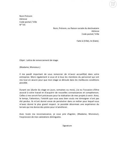 Exemple De Lettre De Remerciement Apres Entretien Modele Lettre De Remerciement Document