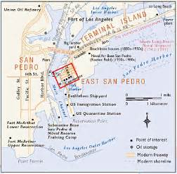 terminal island text w small map