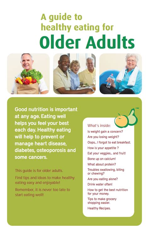 Printable Nutrition For Adults