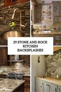 Stone Kitchen Backsplashes exellent kitchen backsplash rock ideas intended design