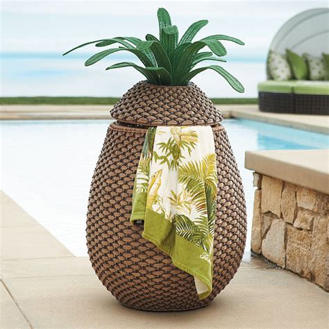 Outdoor Pineapple Decor by Pineapple Towel Her Outdoor Decor By