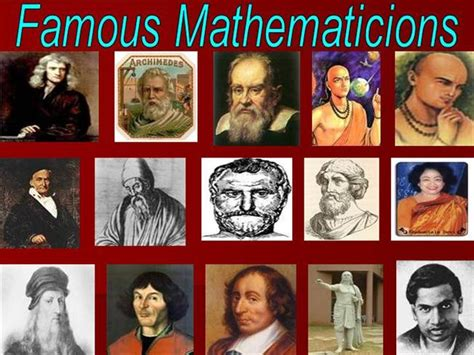 a presentation on mathematicians presentation of math mathematicians authorstream