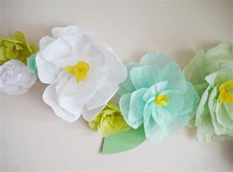 Flower With Tissue Paper - tissue paper flower wall decor paper flowers