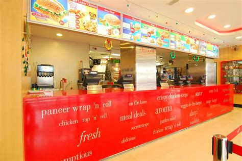 facility layout kfc restaurants ashish interbuild interior design company in india