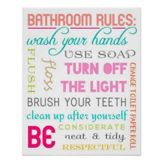 Canadian Bathroom Etiquette Modern Posters Zazzle Canada