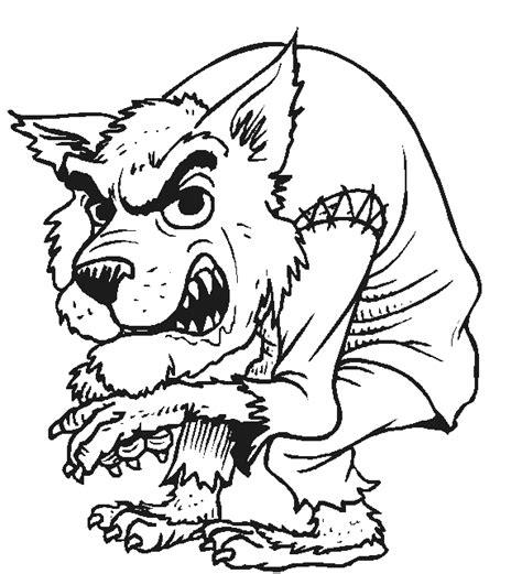 halloween coloring pages werewolf halloween coloring page halloween werewolf all kids