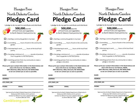 pledge card fundrasiing template sle pledge card non profit tire driveeasy co