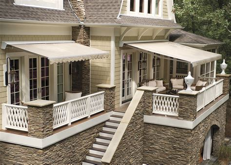 sunbrella retractable awning deck awnings rainier shade