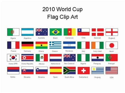 flags of the world ppt world cup flags powerpoint template