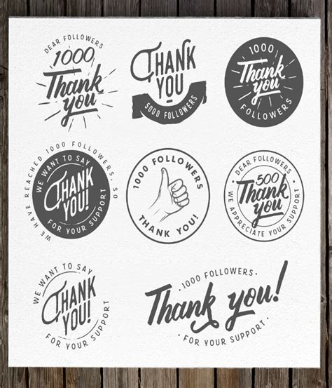 thank you sticker template 20 label template psd vector eps