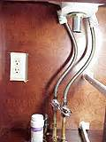 bathroom sink water supply lines index of do it yourself home plumbing projects and repairs