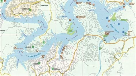 map of lake travis texas lake travis map more maps