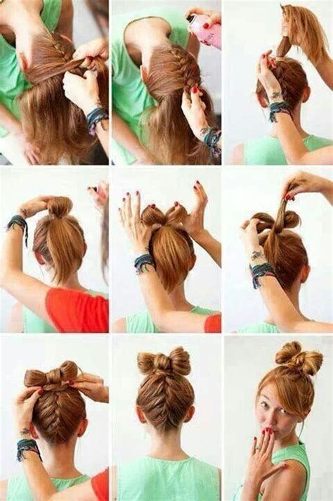 bow hairstyle step by step hair braid bow step by step get your hair did