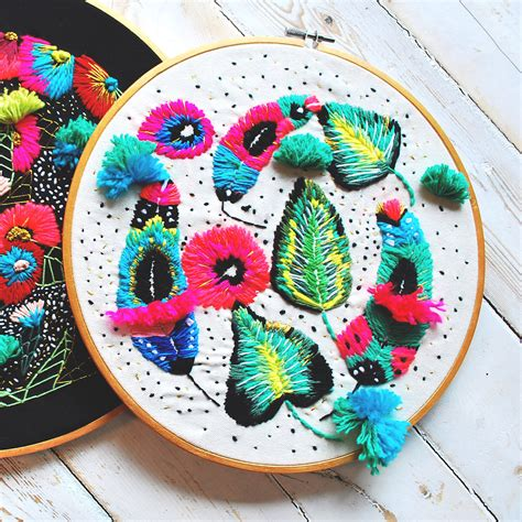 Katty Embroidery Top katy biele crafts textural hoop inspired by nature illustrations