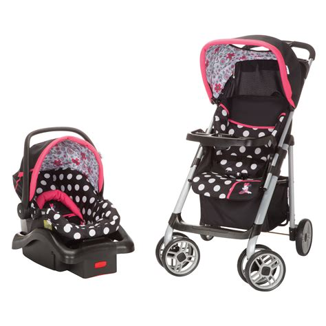 minnie mouse stroller minnie mouse coral flowers saunter sport travel system